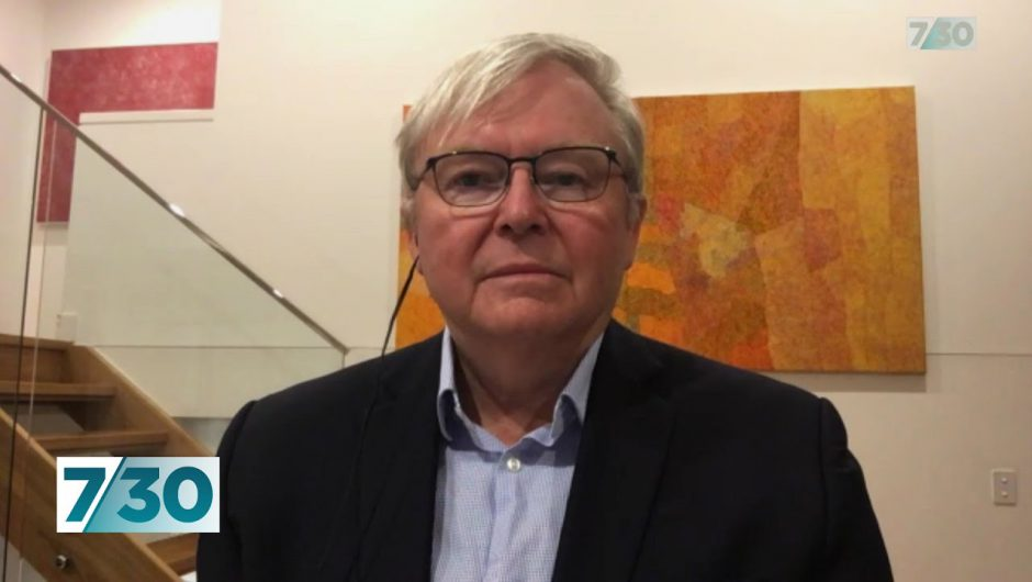Kevin Rudd talks about coronavirus and its effect on the economy | 7.30
