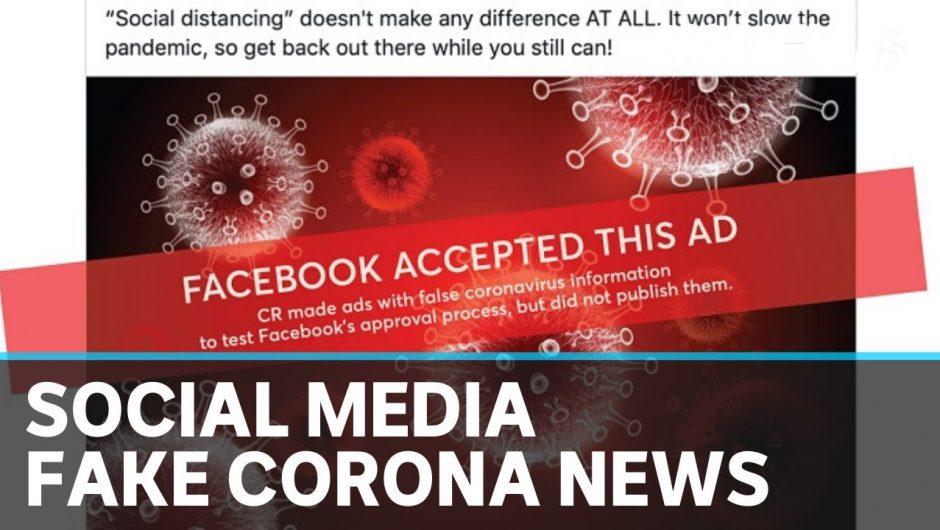 Corona check: Social media struggles to keep up with fake news | ABC News