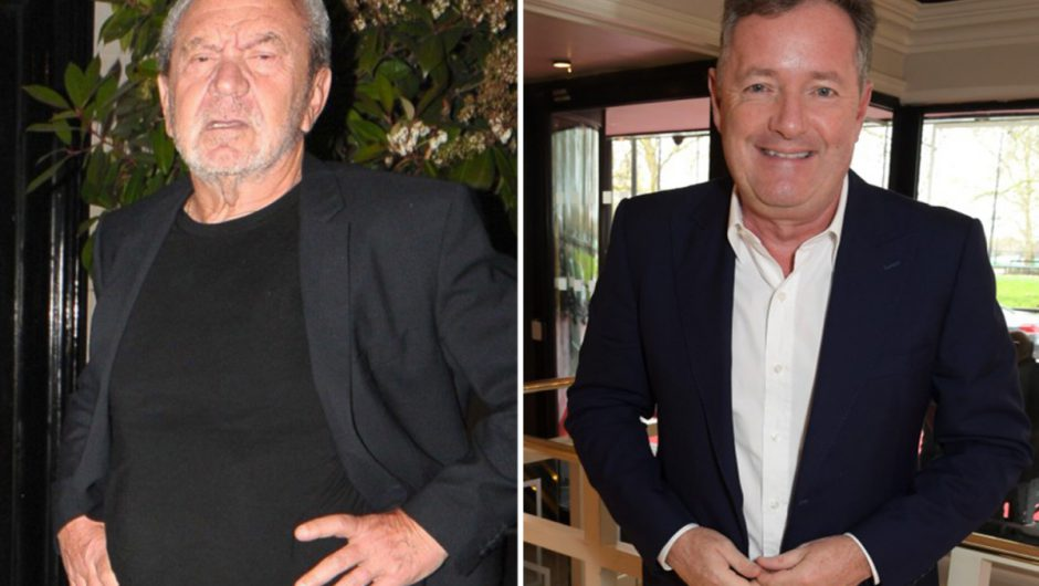 Lord Sugar blasts Piers Morgan as a 'Covid-19 martyr' as their nasty row intensifies