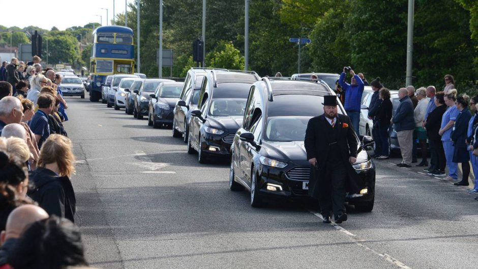 NHS staff line streets for funeral of nurse and parents who all died of coronavirus
