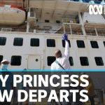 First Ruby Princess crew members disembark after coronavirus isolation | ABC News