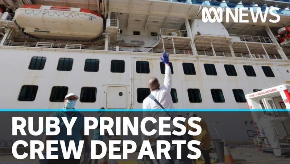 First Ruby Princess crew members disembark after coronavirus isolation | ABC News