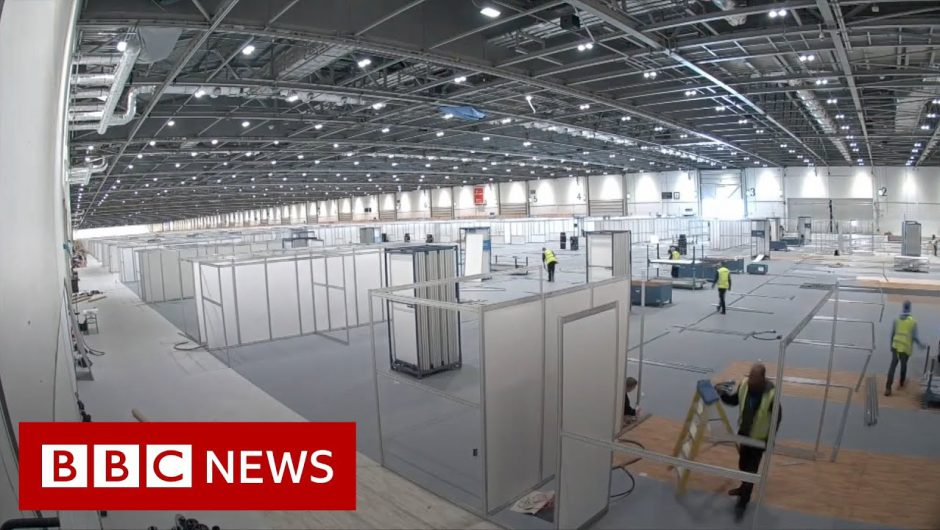 Timelapse of new London coronavirus hospital – BBC News