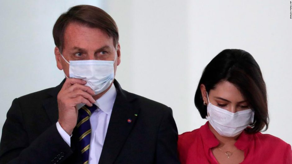 Bolsonaro: Brazilian President says he has 'mold' in his lungs as his wife tests positive for Covid-19