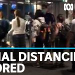 New arrivals at Sydney Airport ignore COVID-19 distancing rules | ABC News