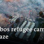 Thousands left without shelter after fires erupt at Greece's quarantined refugee camp Moria |DW News