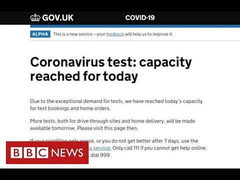 Coronavirus: test booking website swamped as thousands apply – BBC News