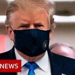 Coronavirus: Donald Trump finally wears mask in public – BBC News