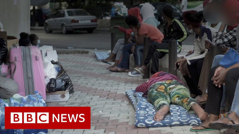Ethiopian maids dumped outside Beirut embassy – BBC News