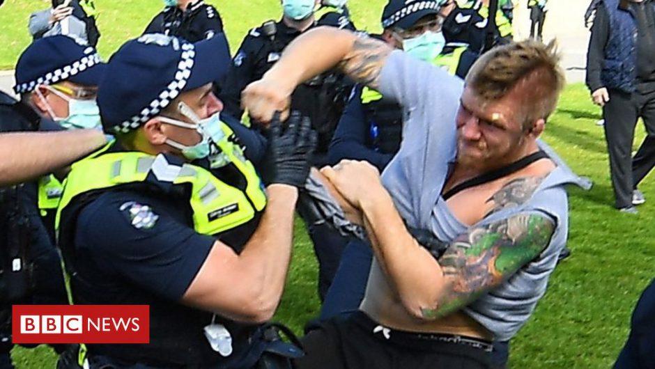 Coronavirus: Arrests at Australia anti-lockdown protests