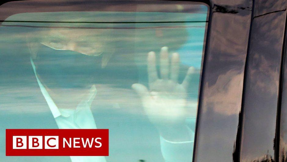 Trump Covid: President criticised over drive-past – BBC News