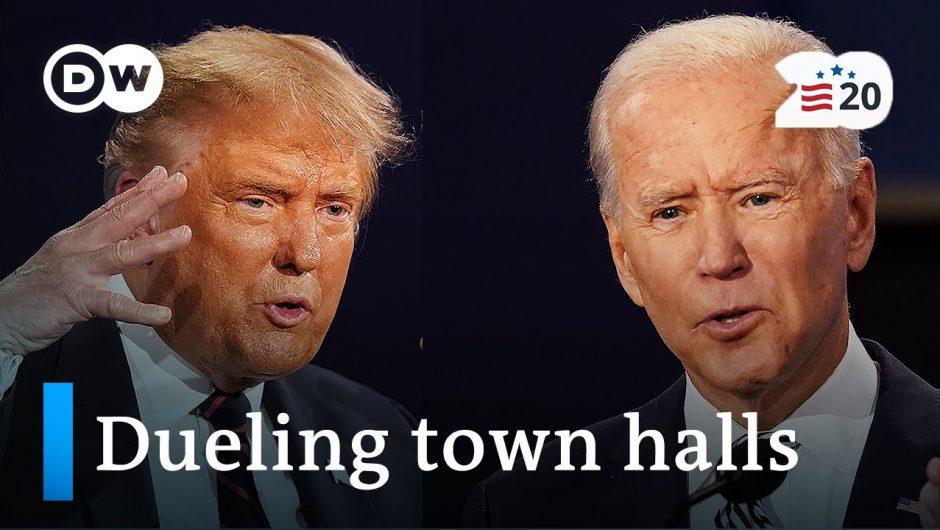 Key takeaways of Trump, Biden town hall events | DW Analysis