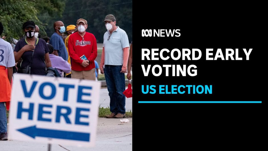 Americans turn out in record numbers to cast their votes early amid ongong COVID-19 fears | ABC News