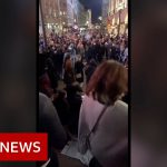 Covid UK restrictions: Saturday night street scenes – BBC News