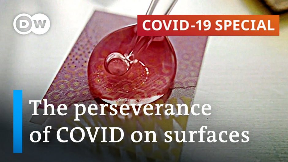 How long does the coronavirus remain viable on surfaces? | COVID Spezial
