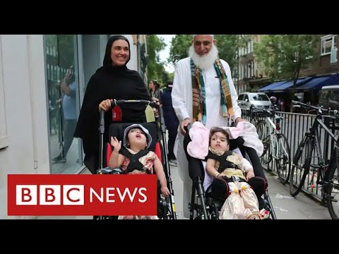 Separated twins Marwa and Safa return home after months of treatment – BBC News