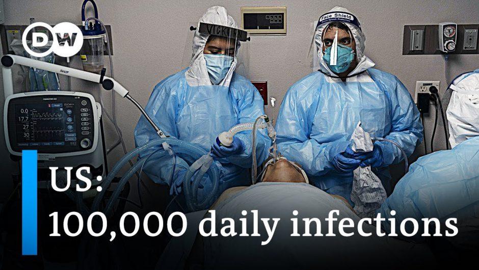 US breaks 24-hours coronavirus record | DW News