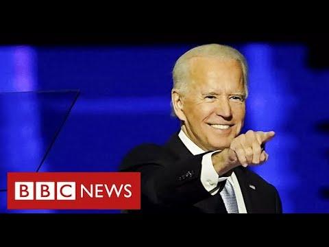 President Elect Joe Biden declares end to Trump divisions – BBC News