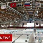 Coronavirus: Russia uses ice rink as field hospital – BBC News