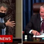 Two US senators have clashed over the wearing of face masks in the chamber – BBC News