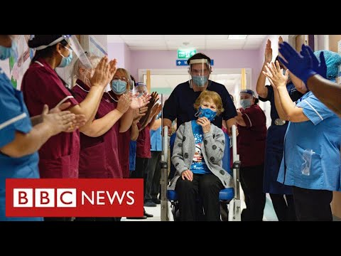 Historic moment as woman aged 90 gets first clinically-approved Covid vaccine – BBC News