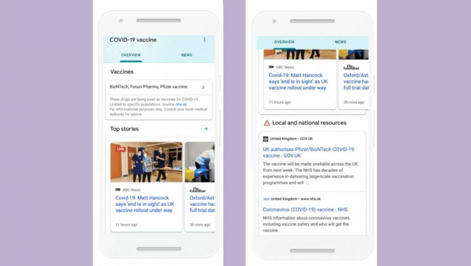 Here's how Google will show accurate information around COVID-19 vaccine
