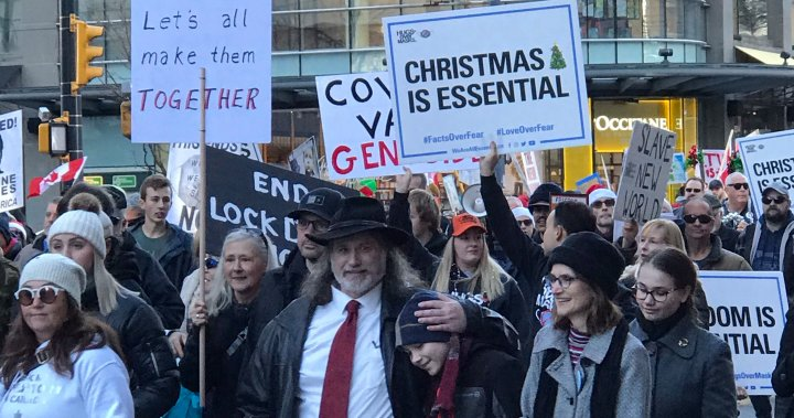 Anti-mask rally amid B.C. COVID-19 case surge 'really concerning': respirologist