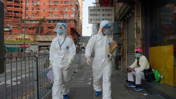 Hong Kong residents in lockdown to contain coronavirus outbreak
