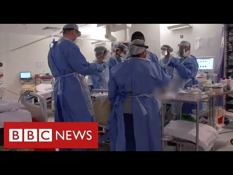 Covid frontline: harrowing scenes from London intensive care unit as deaths soar – BBC News