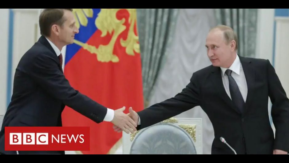 """Russian spy chief says America is """"trying to rule the world"""" – BBC News"""