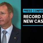 Australia sets new record for highest daily increase in COVID-19 cases | ABC News