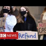 "University students protest across UK over ""lack of support"" during pandemic – BBC News"
