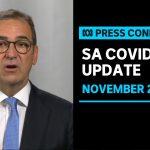 South Australian Premier Steven Marshall giving a coronavirus update| ABC News