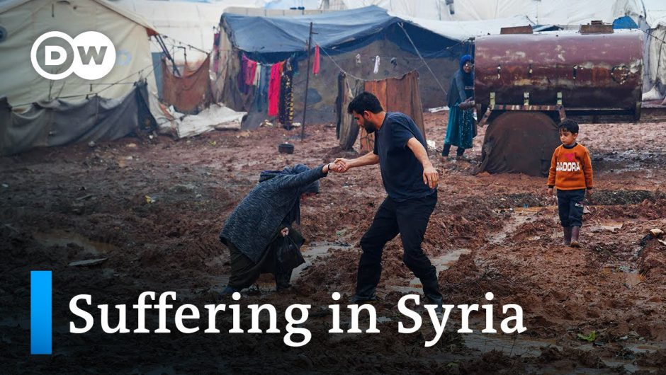Crisis in Syria: Refugees in Idlib camps face war, weather and Covid | DW News