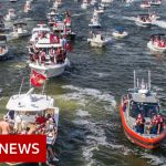 Huge boat parade to celebrate Tampa Bay Buccaneers Super Bowl win – BBC News