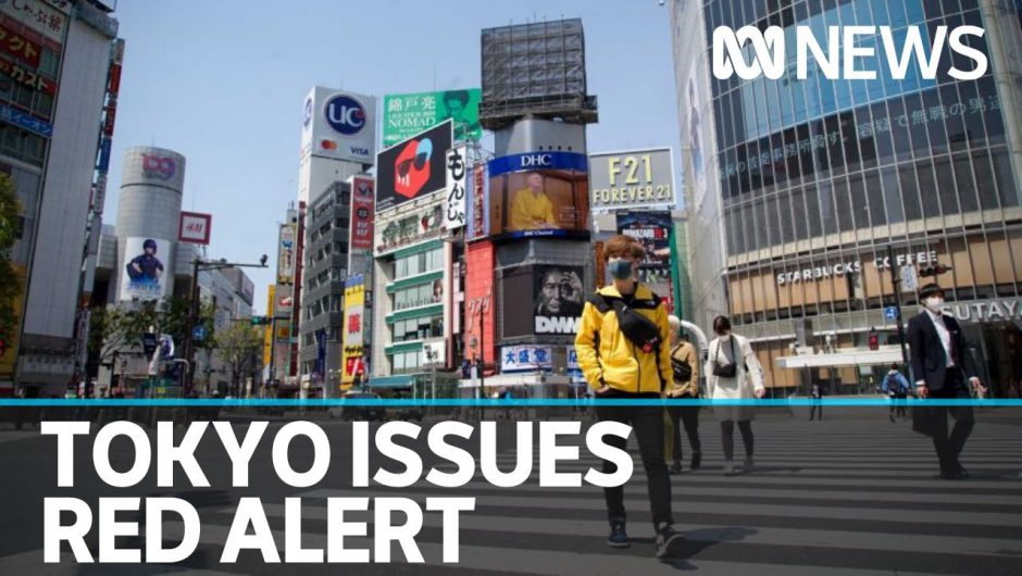 Tokyo issues red alert due to surge in COVID-19 cases | ABC News