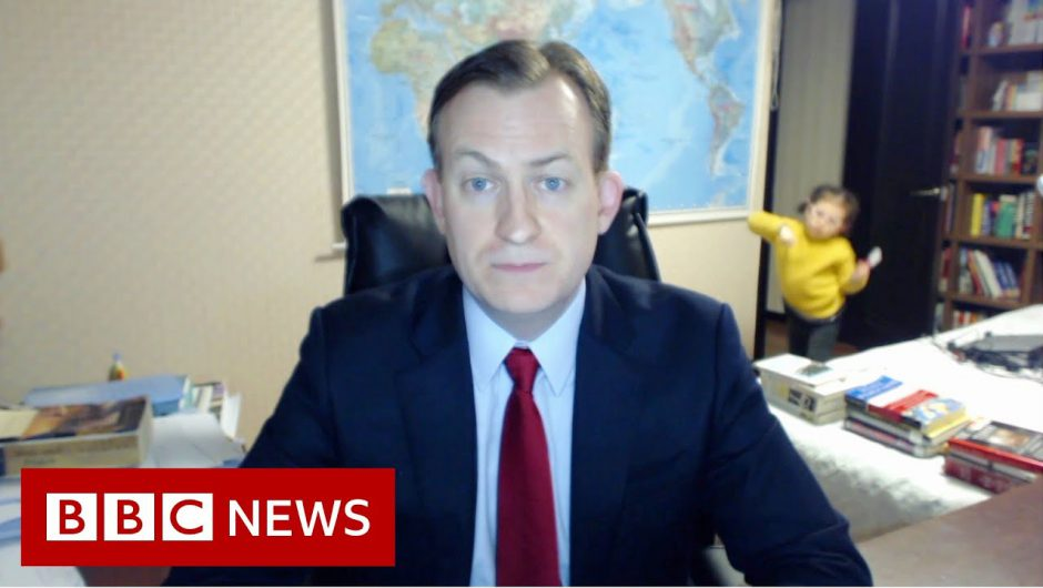 Viral dad on the trials of working from home – BBC News