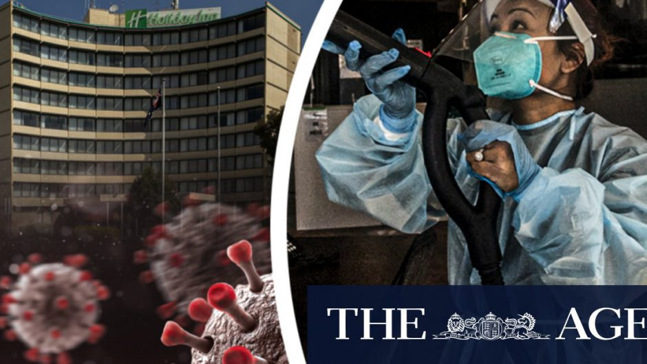 COVID-19 quarantine workers move between hotels, offices