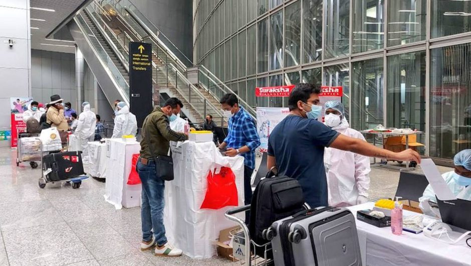 Covid-19 guidelines at airports in India