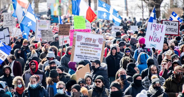 Thousands protest Quebec's COVID-19 lockdown measures, several arrests made: Montreal police – Montreal