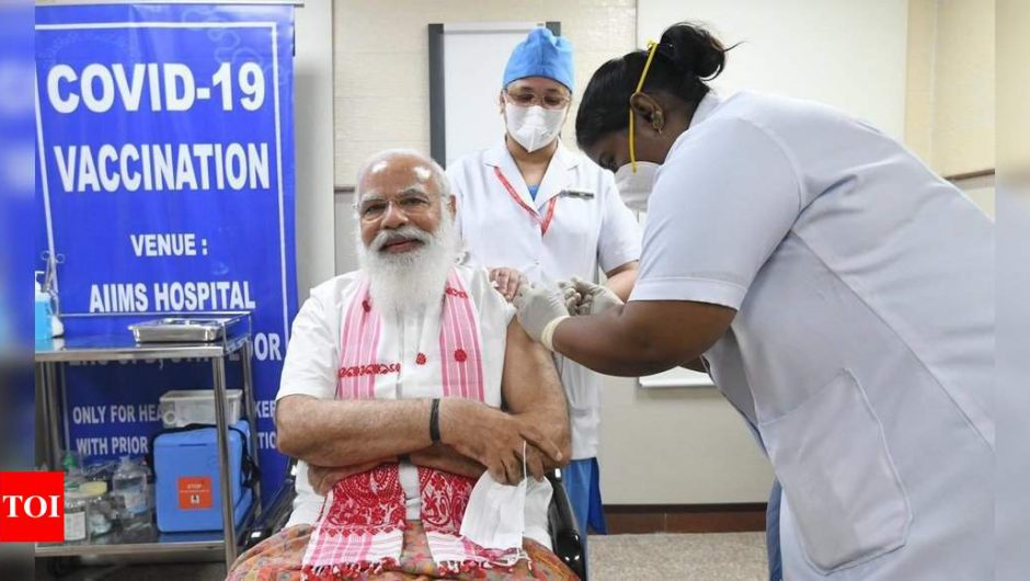 Twitter Faceoff: Fans and critics of PM Modi clash after he takes first dose of Covid-19 vaccine   India News