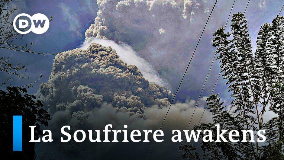 Tens of thousands flee volcanic eruption on St. Vincent island | DW News