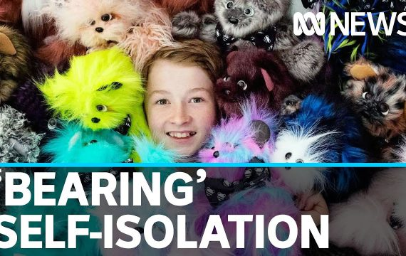 'Bear boy' Campbell Remess shares his skills during coronavirus self-isolation | ABC News